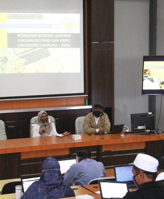 Jurusan Akuntansi FEB Unila Selenggarakan Workshop Blended Learning Lanjutan